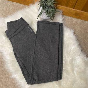 Reebok: Women's Long Athletic Workout Spandex Stretch Yoga Pants Gray Bootcut S